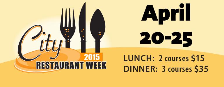 2015 City RestaurantWeek